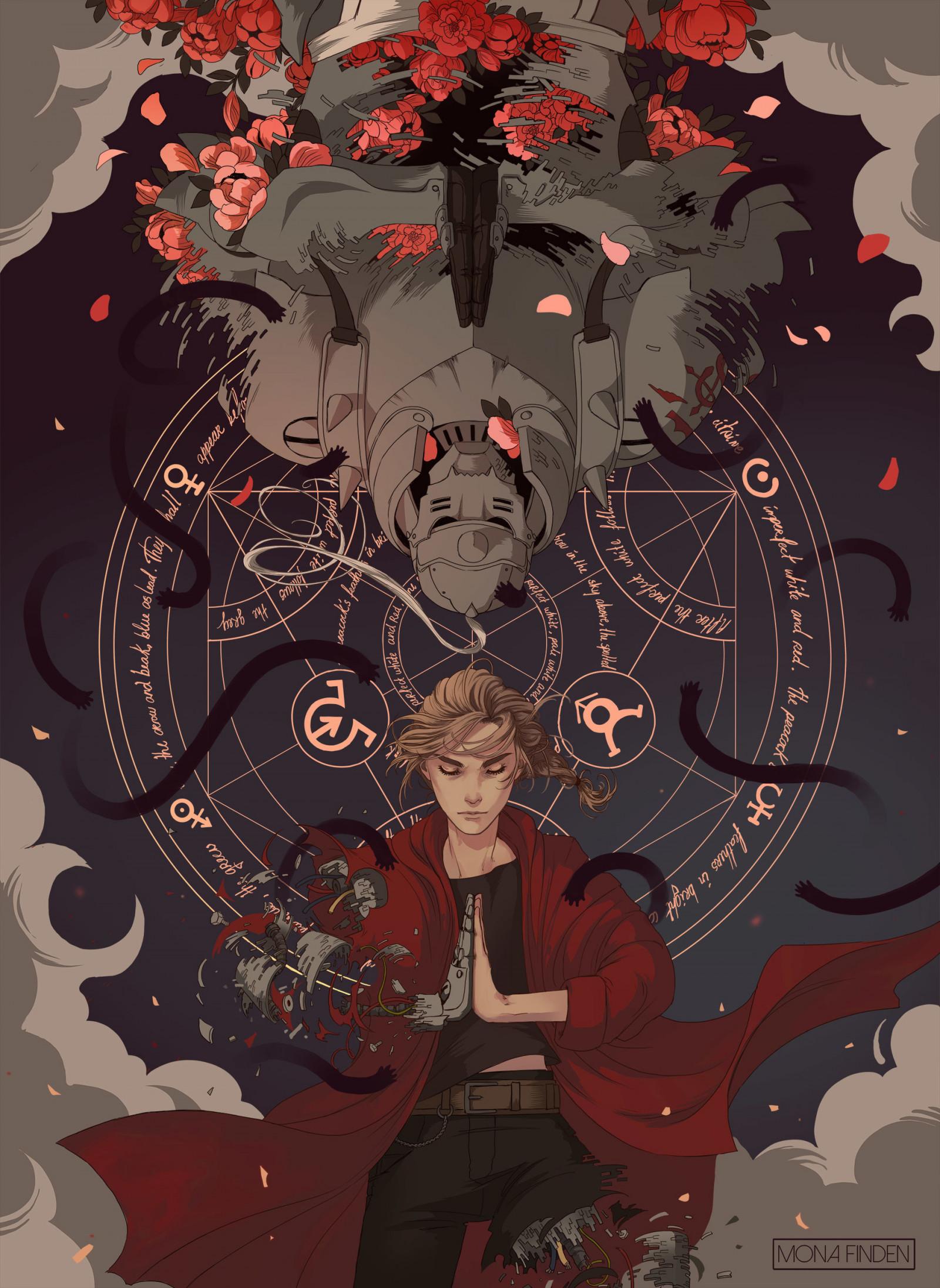 Wallpaper Mona Finden Elric Edward Elric Alphonse Full Metal