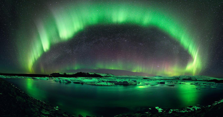 Sfondi natura cielo aurora vista paesaggi sfondo for Immagini desktop hd 3d