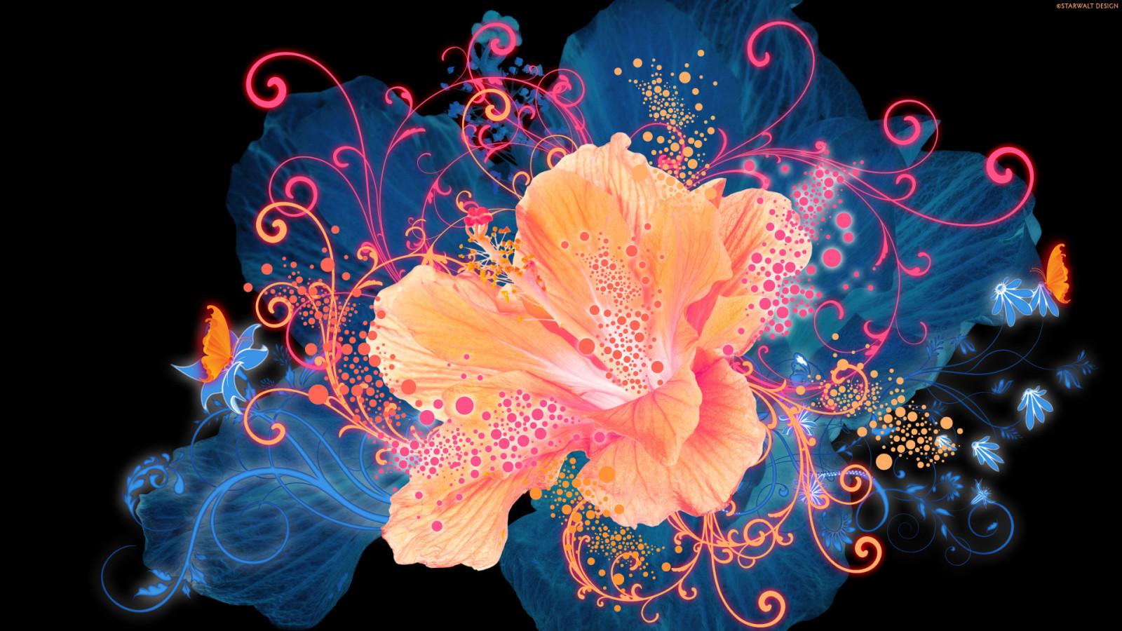 Добро пожаловать 1920x1080_px_abstract_art_artistic_Bright_colors_contrast_flowers-1774455