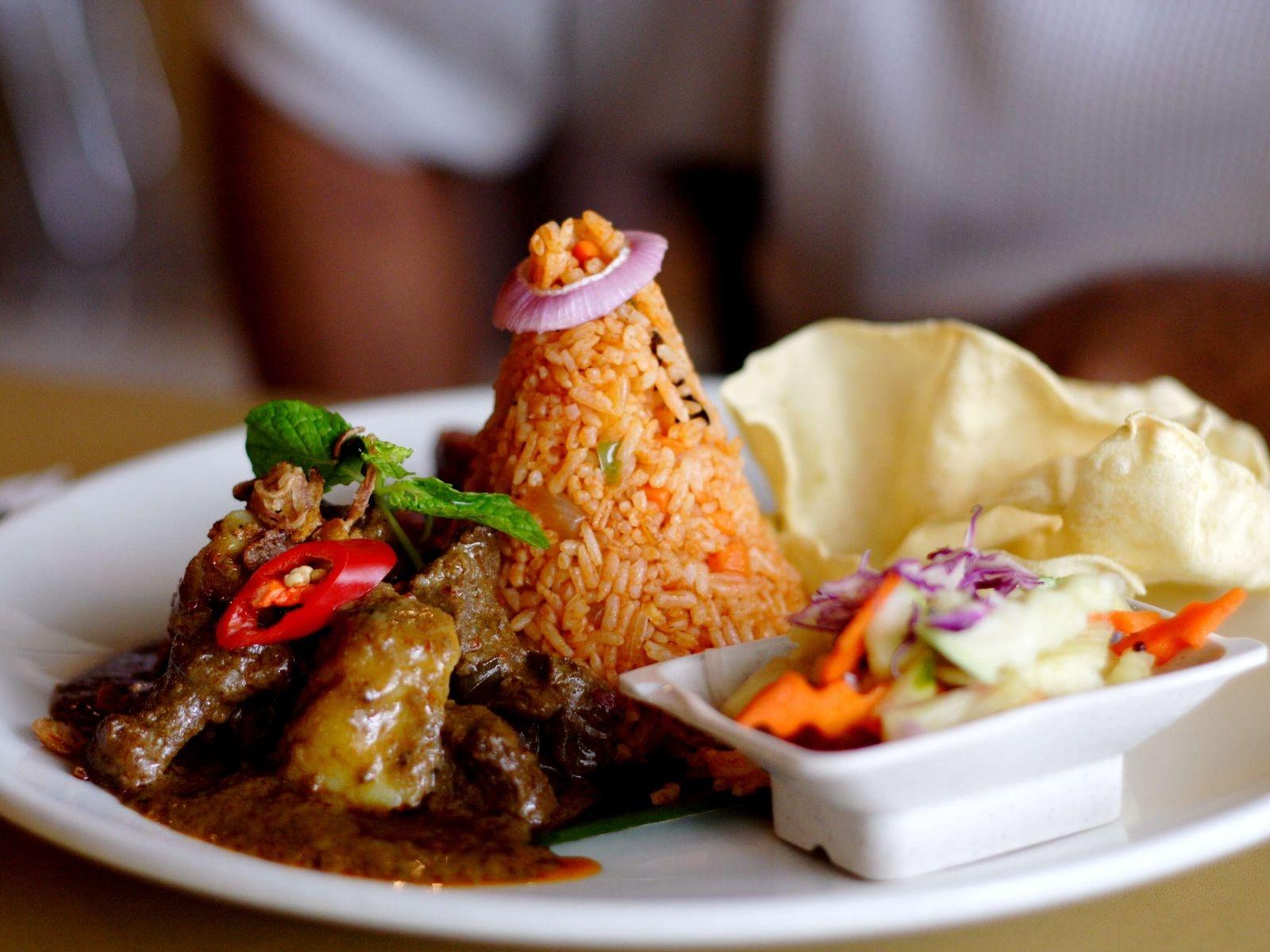 Wallpaper Meat Vegetables Seafood Rice Dinner Meal