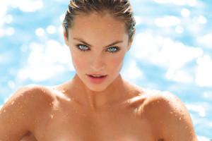 Wallpaper : Candice Swanepoel, beach, ass, model, blue eyes, wet body 2560x1080 - eddief430 ...