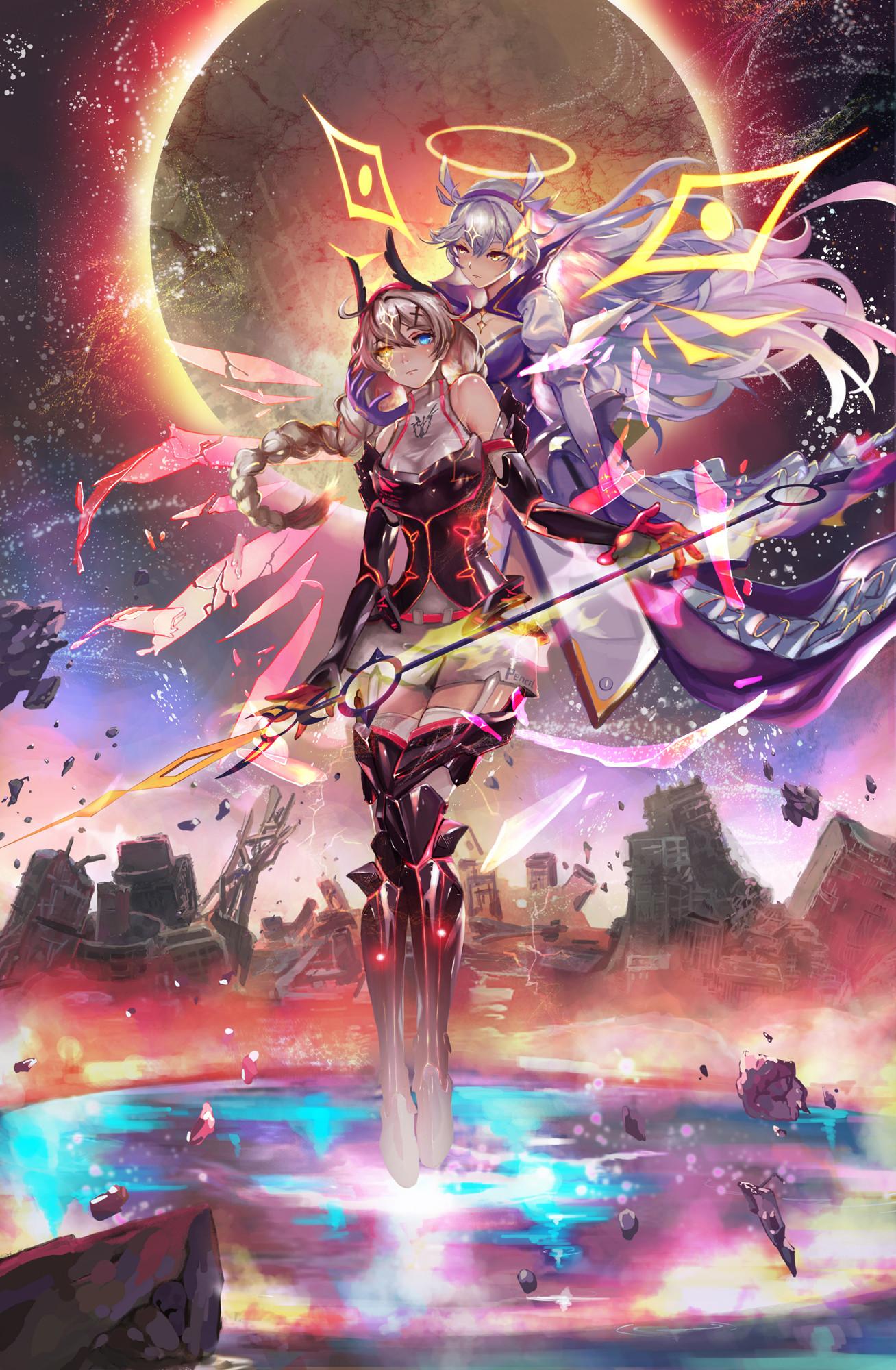 Wallpaper : anime girls, Honkai Impact 1308x2000 ...