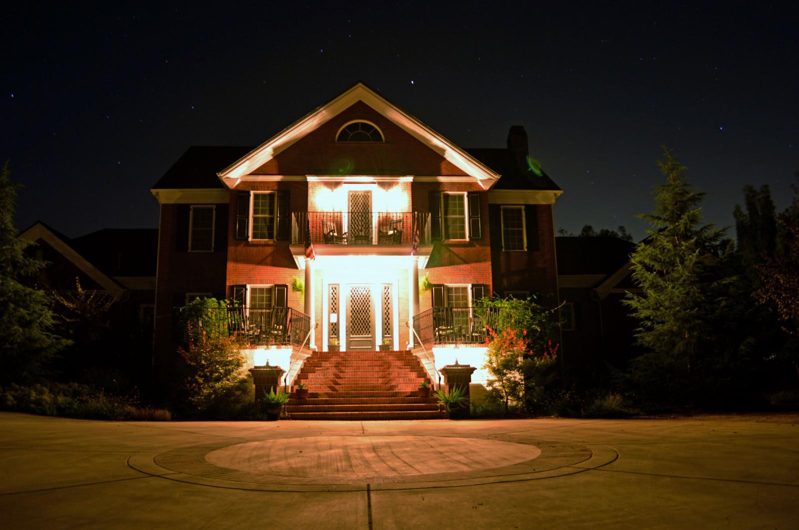 Sfondi casa proprietà leggero illuminazione di paesaggio