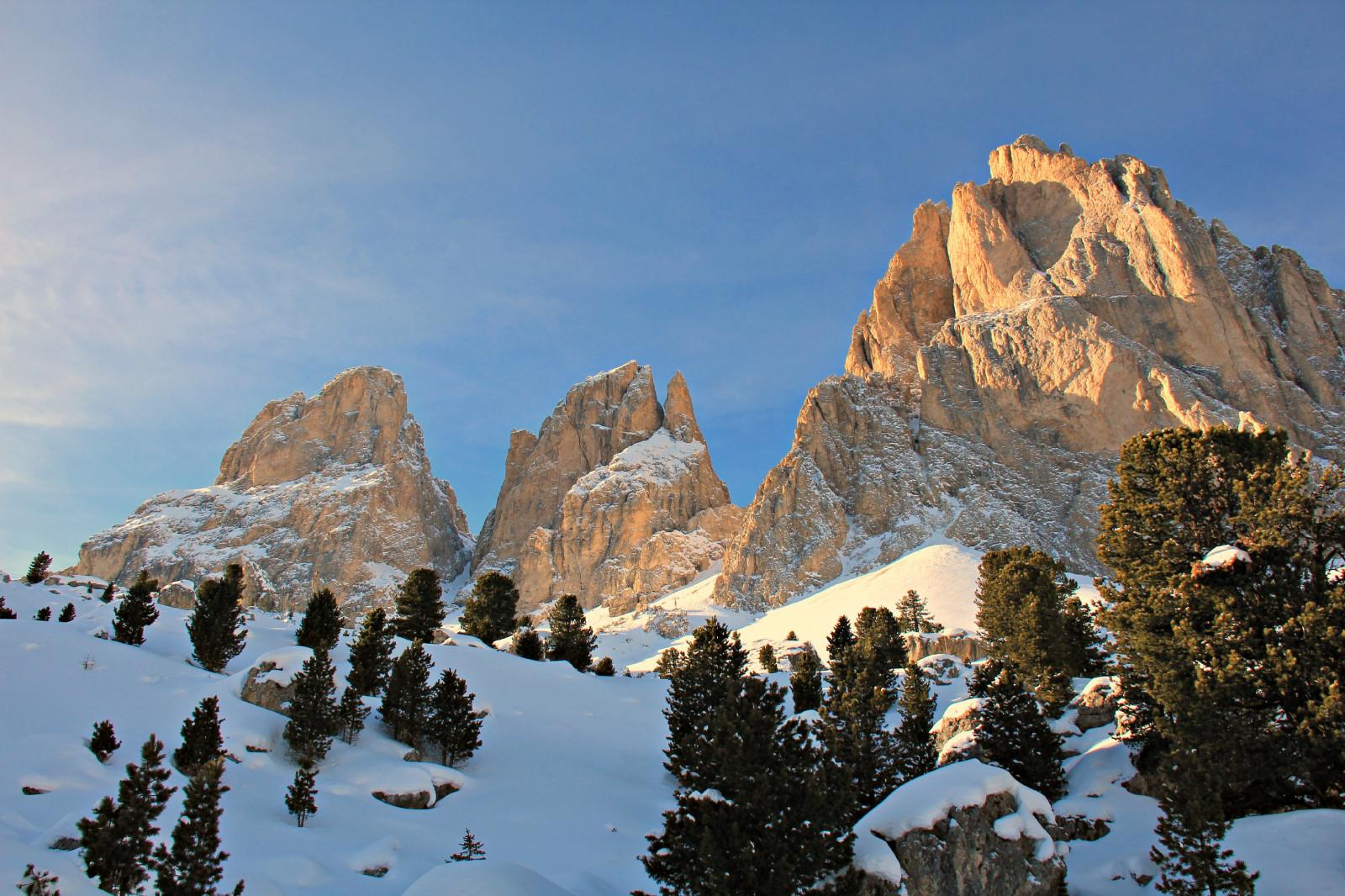 Sfondi Inverno Italia Panorama Montagne Alpi Natura