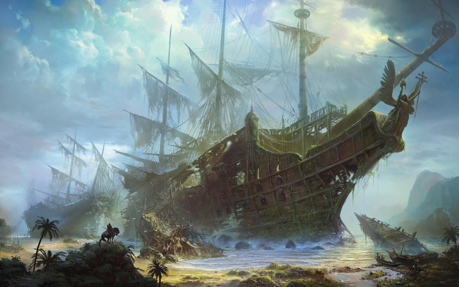 корабль галеон обои на рабочий стол № 570086 бесплатно