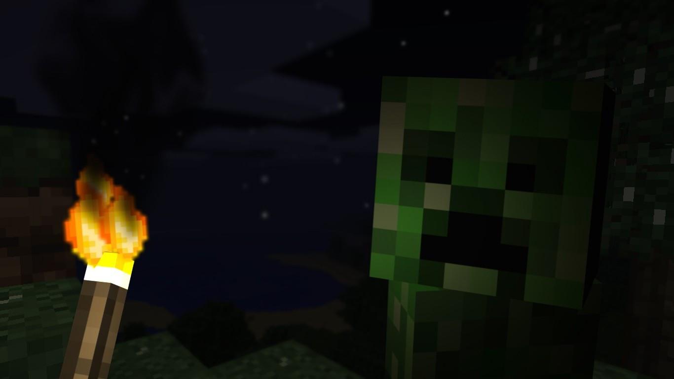 Must see Wallpaper Minecraft Night - 1366x768_px_Minecraft-564957  Pic_74784.jpg!d