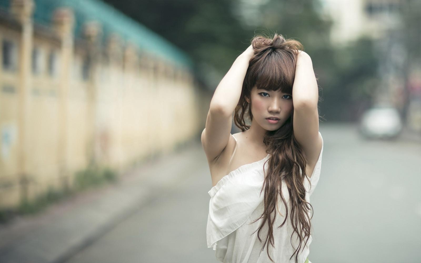 азиатки с длинными волосами фото