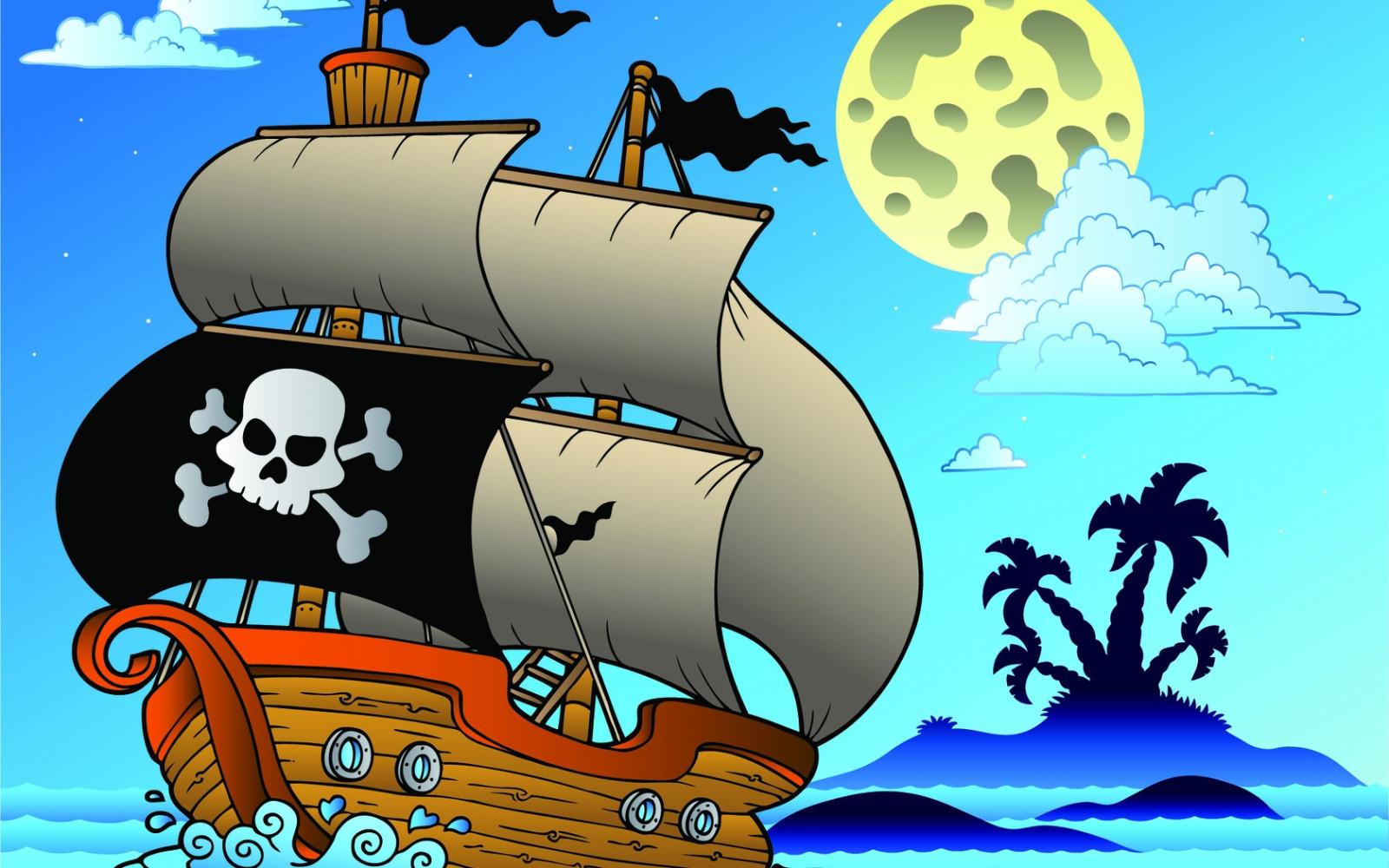 Тему, картинки на пиратскую тему для детей