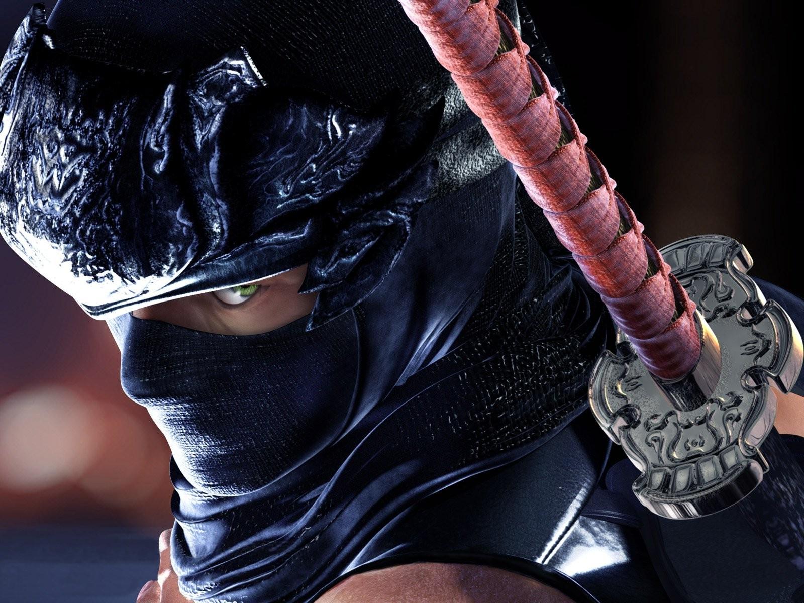 Wallpaper Hitam Video Game Model Ninja Mode Pakaian