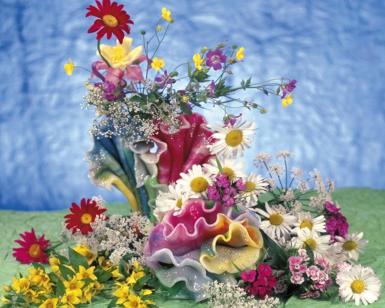 Открытки поздравления, открытка с днем рождения летние цветы