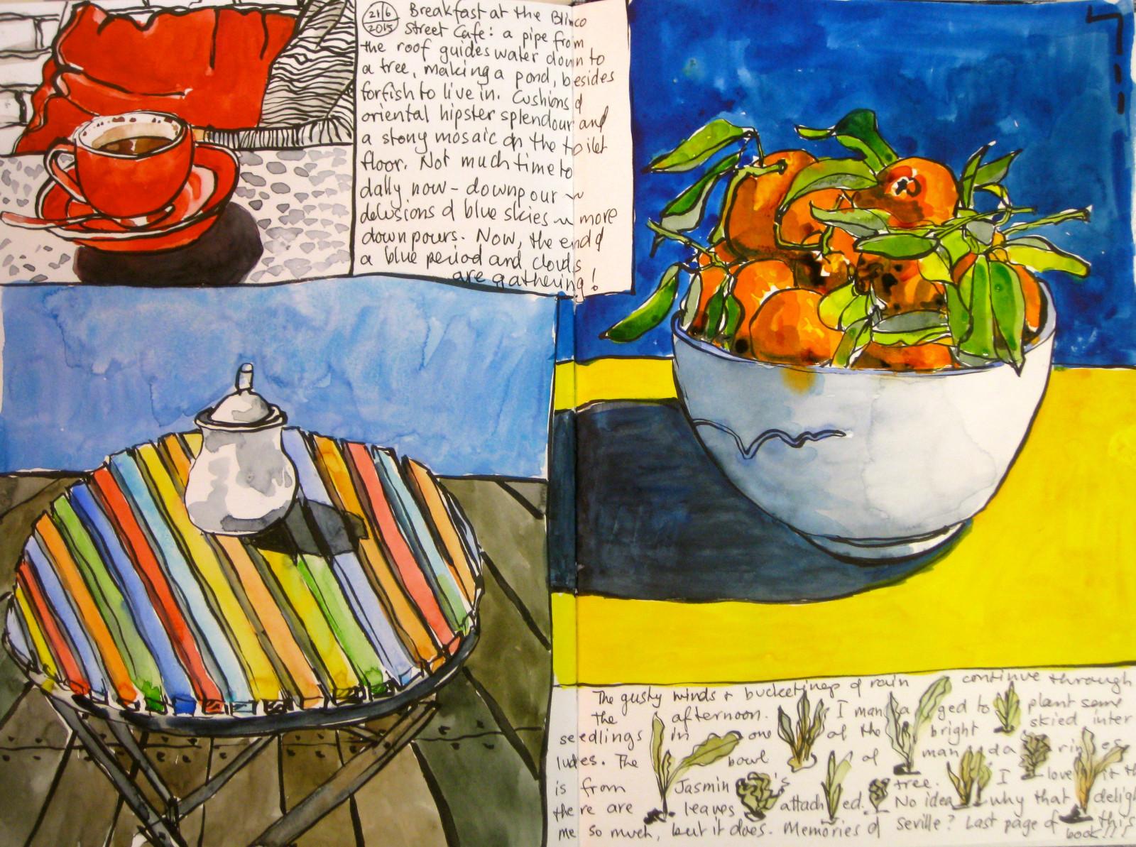 Gelb Malerei Stillleben KUNST Lebensmittel Kunstwerk Farbe Küche  Illustration Moderne Kunst Mahlzeit Blume