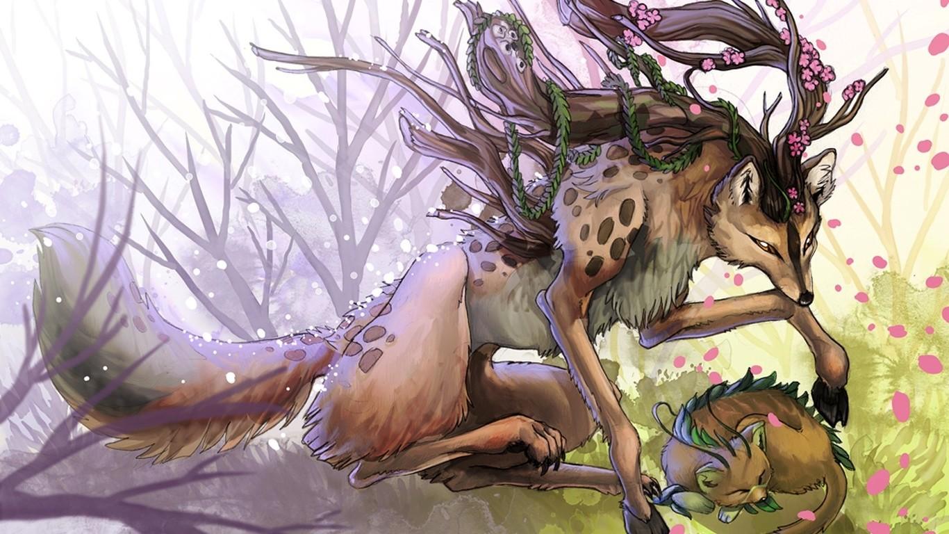 Аниме картинки мифические существа