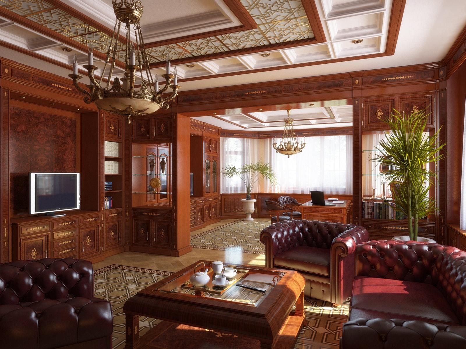 Papel De Parede Quarto Cadeira Televis O Design De Interiores  -> Casa Sala De Tv Sala De Jantar A Fazenda