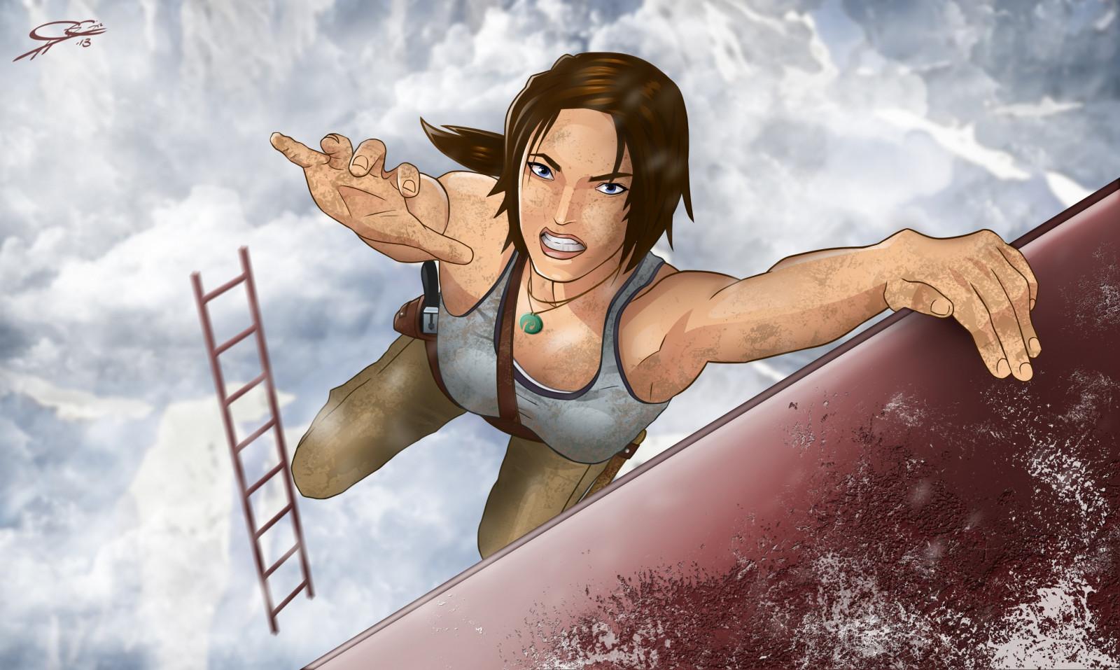Lara croft hair erotic reality breasts